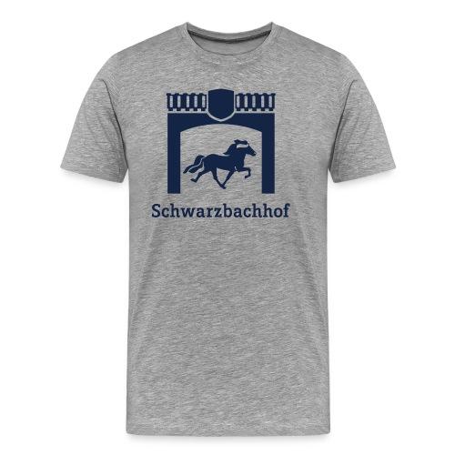 Logo Schwarzbachhof Blau - Männer Premium T-Shirt