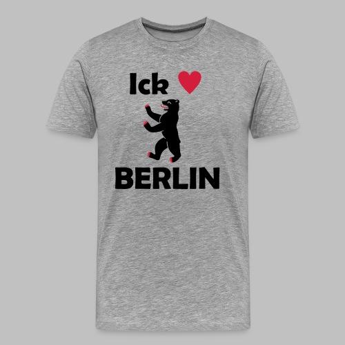 Ick liebe ❤ Berlin - Männer Premium T-Shirt