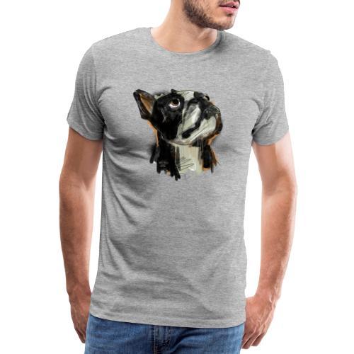 Französische Bulldogge Zeichnung - Männer Premium T-Shirt