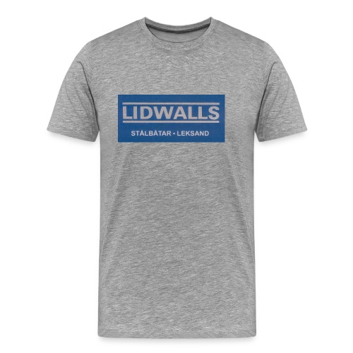 Lidwalls Stålbåtar - Premium-T-shirt herr
