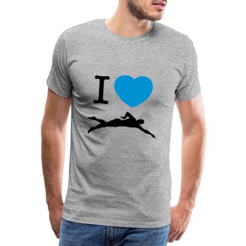 I love swimming - Maglietta Premium da uomo