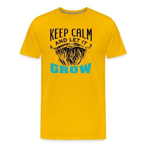 Beard Keep Calm And Let It Grow - Männer Premium T-Shirt
