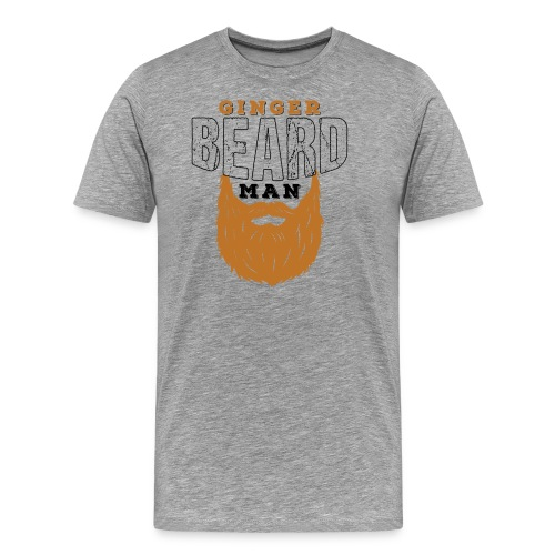Beard Ginger Beard Man Redhead Gifts For Men - Männer Premium T-Shirt