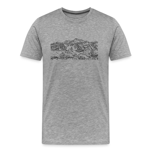 grossvenediger_schwarz - Männer Premium T-Shirt