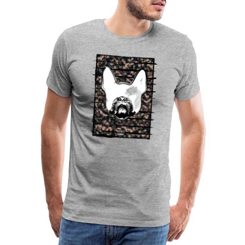 Französische Bulldogge Camouflage Silhouette - Männer Premium T-Shirt