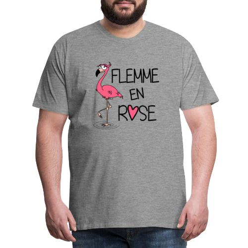 Flamant Rose / Flemme en Rose - T-shirt Premium Homme