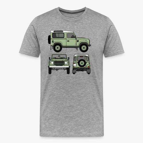 Defender 90 - Sides - Premium-T-shirt herr