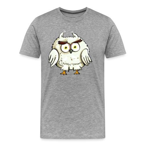 Verwirrte Eule - Männer Premium T-Shirt