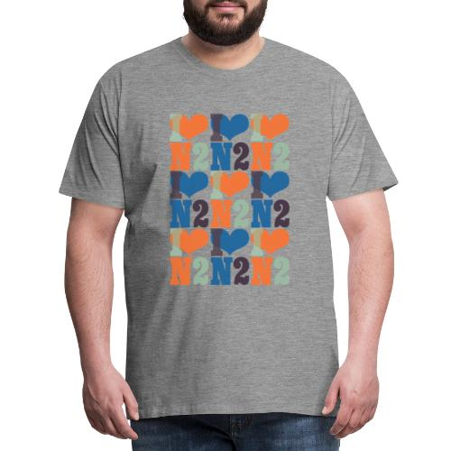 East Finchley I Love N2 pattern - Men's Premium T-Shirt