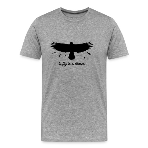 To fly is a dream Noir - T-shirt Premium Homme