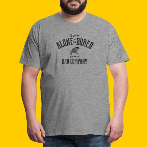 Alone & Bored - Premium-T-shirt herr