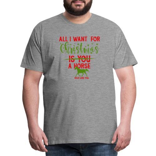 Weihnachts Wunschzettel - Pferd - Männer Premium T-Shirt
