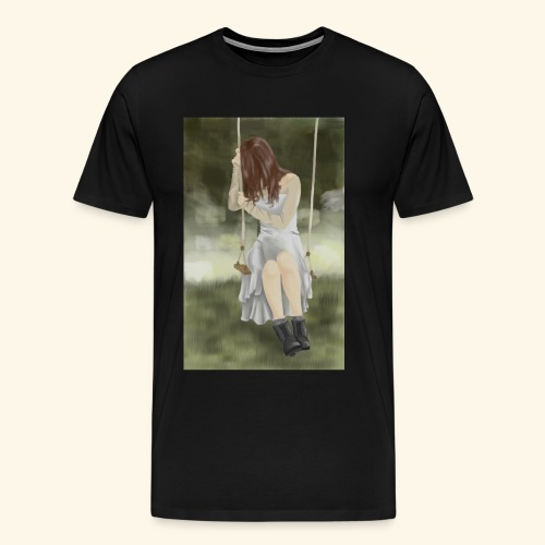 Sad Girl on Swing - Men's Premium T-Shirt