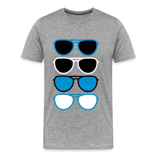4 glasses - Mannen Premium T-shirt