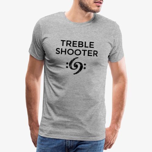 Treble Shooter Bass Design (Black) - Männer Premium T-Shirt