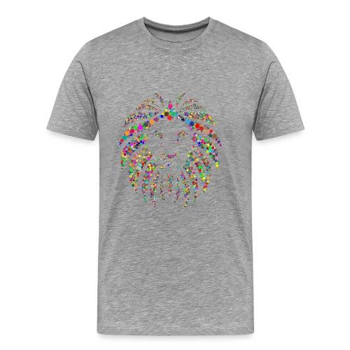 Löwe farbig modern cool - Männer Premium T-Shirt
