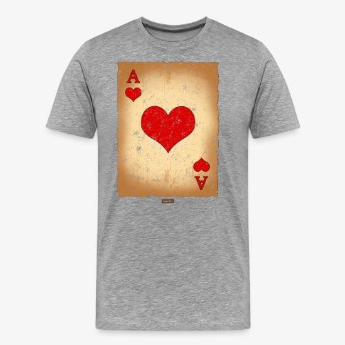 Spielkarte Herz Ass HARIZ Karneval Kostuem Koeln - Männer Premium T-Shirt