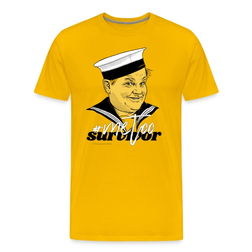 #metoo survivor - Herre premium T-shirt