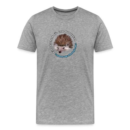 Igel blau Kontur - Männer Premium T-Shirt