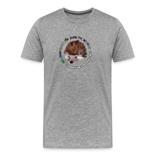 Igel bunt Kontur - Männer Premium T-Shirt