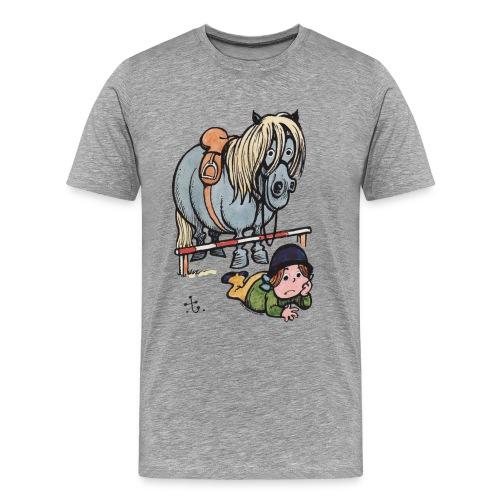 Thelwell Reiterin Liegt Hinter Dem Sprung - Männer Premium T-Shirt