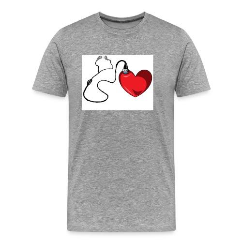 corazón con audífonos llenos de amor - Camiseta premium hombre