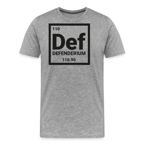 DEFENDERIUM BLACK - Mannen Premium T-shirt