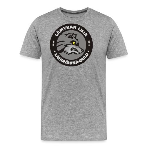 Lämykän Luja, uusi logo värikäs - Miesten premium t-paita
