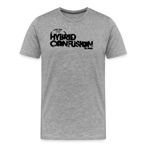 hybrid tshirt new font raster quadrat 3 - Men's Premium T-Shirt