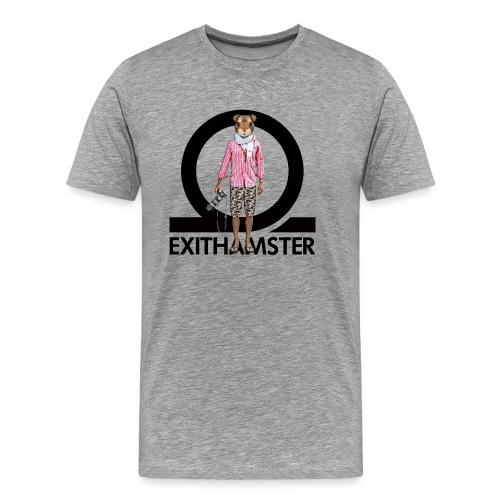 EXITHAMSTER LOGO WHITE BG - Men's Premium T-Shirt