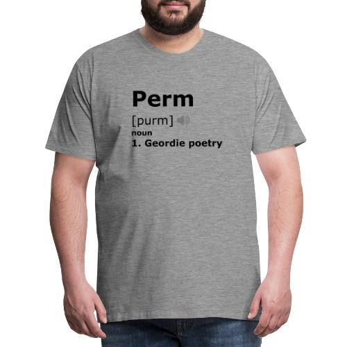 Perm [black] - Men's Premium T-Shirt