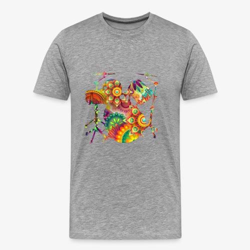 psychedelisches Schattenbild Schlagzeug - Männer Premium T-Shirt