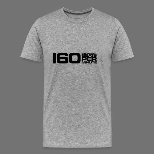 160 BPM (sort lang) - Herre premium T-shirt