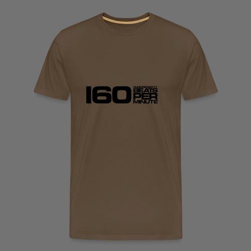 160 BPM (musta pitkä) - Miesten premium t-paita