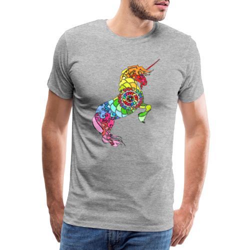 Einhorn Motiv 3 - Männer Premium T-Shirt