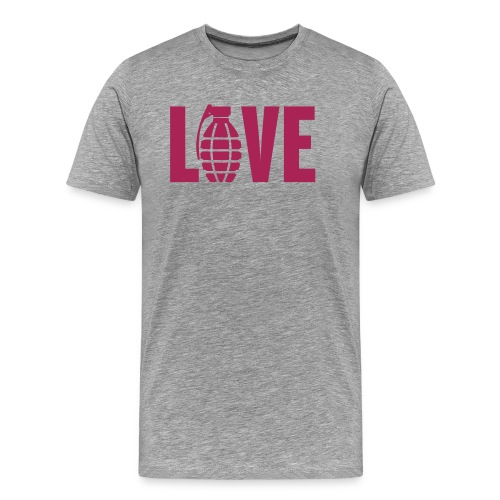 LOVE Grenade - Men's Premium T-Shirt