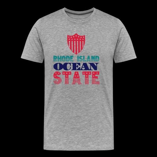 rhode island ocean state - Men's Premium T-Shirt