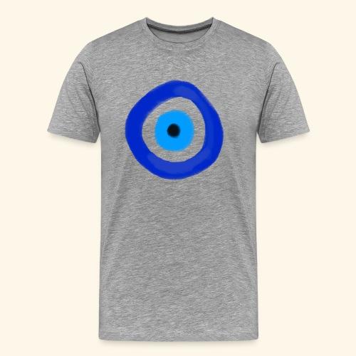 Blue evil eye Water Colour - Premium-T-shirt herr