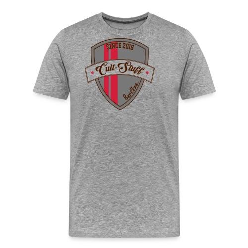 Cult Stuff - Logo grün rot - Männer Premium T-Shirt