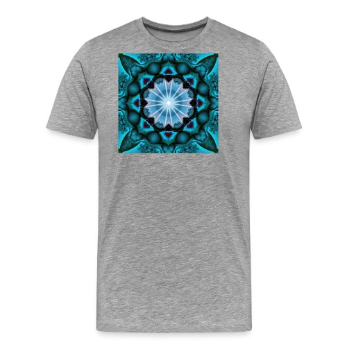 türkieses Fraktal - Männer Premium T-Shirt