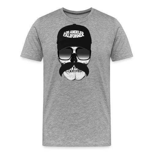 Skull Mustache California - Men's Premium T-Shirt