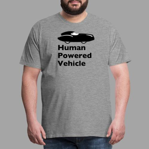Quattrovelo Human Powered Vehicle black - Men's Premium T-Shirt