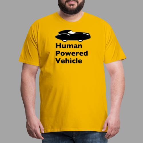 Quattrovelo Human Powered Vehicle black - Miesten premium t-paita
