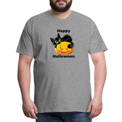 Happy Halloween cat - Men's Premium T-Shirt