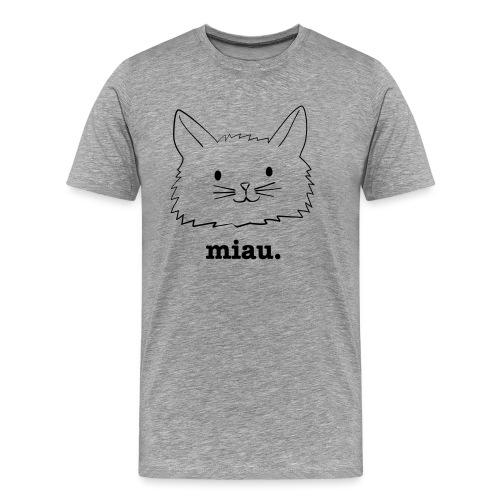 miau. - Männer Premium T-Shirt