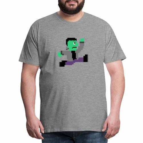 8-Bit Halloween Frankenstein - Men's Premium T-Shirt