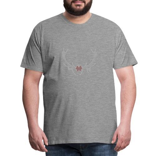 corne cerf - T-shirt Premium Homme
