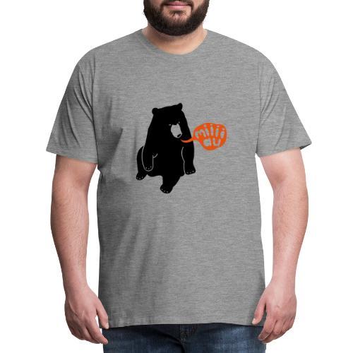 Bär sagt Miau - Männer Premium T-Shirt