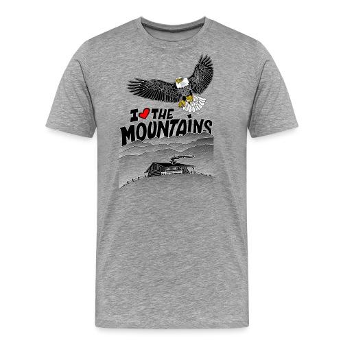 I love The Mountains Adelaar - Mannen Premium T-shirt