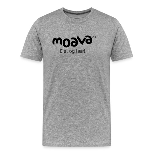 Moava_t-shirt_logo_no_sor - Premium T-skjorte for menn